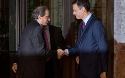 Sánchez negocia con Torra en vísperas de otra insurrección